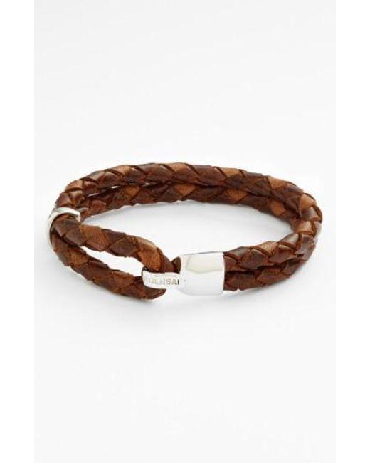 Miansai | Blue 'beacon' Braided Leather Bracelet for Men | Lyst