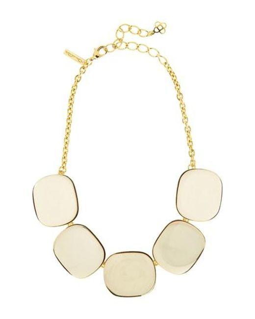 Oscar de la Renta - Metallic Resin Mirror Necklace - Lyst