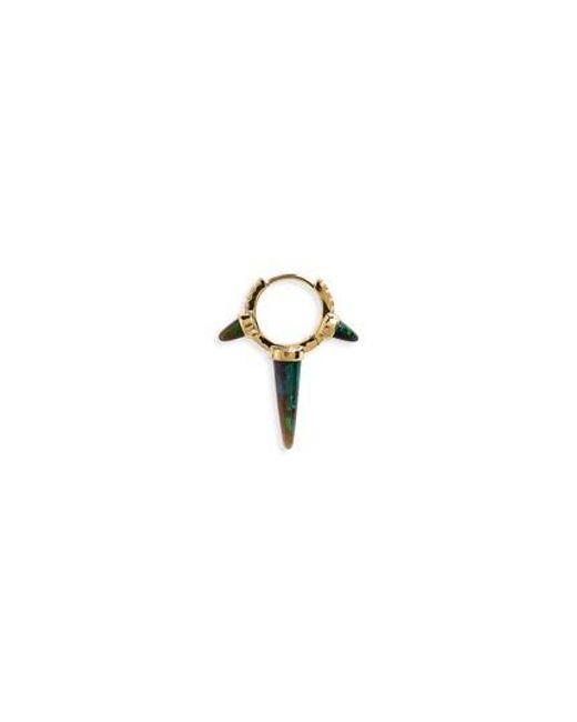 Maria Tash - Metallic Black Opal & Diamond Triple Spike Eternity Earring - Lyst
