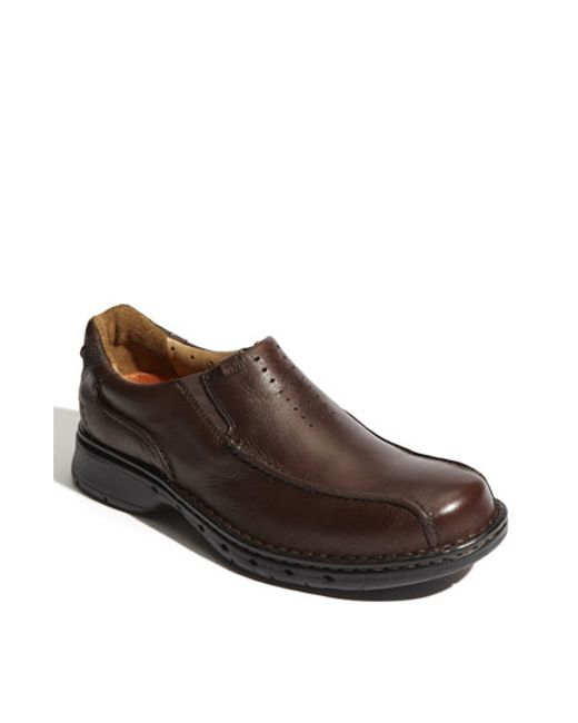 Clarks   Brown Clarks 'un. Seal' Slip-on for Men   Lyst