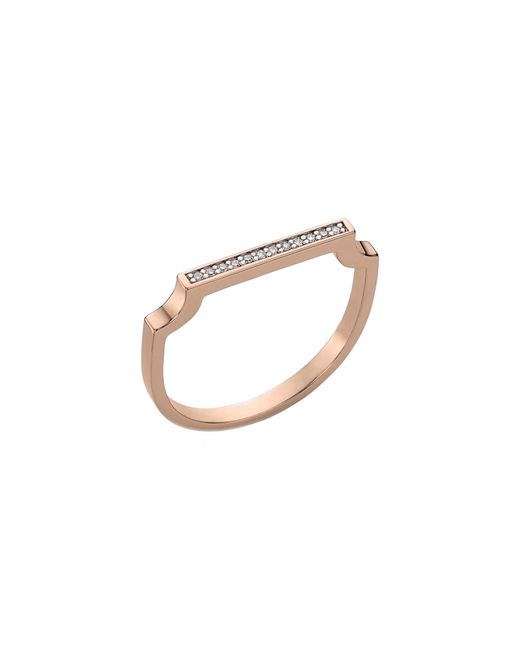 Monica Vinader - Metallic Signature Thin Diamond Ring - Lyst