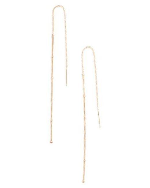 Zoe Chicco | Metallic Chain Threader Earrings | Lyst