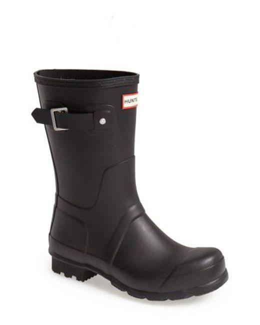 Hunter - Blue 'original Short' Rain Boot for Men - Lyst
