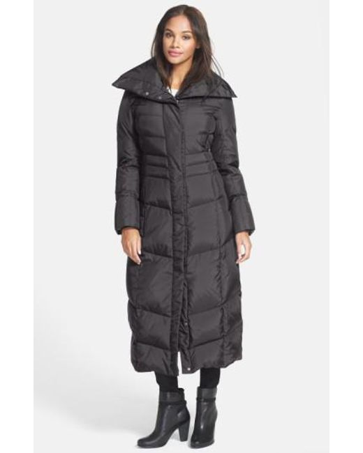 Cole Haan | Blue Long Down & Feather Fill Coat | Lyst
