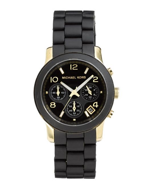 Michael Kors | Black 'runway' Chronograph Watch | Lyst