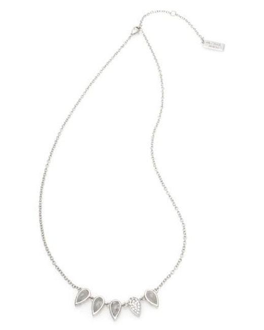 Melanie Auld   Metallic Semiprecious Stone Necklace   Lyst