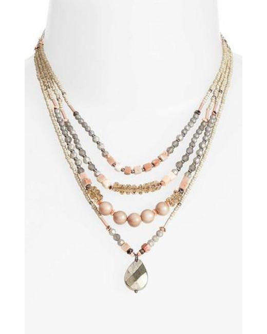 Nakamol | Metallic Multistrand Necklace | Lyst