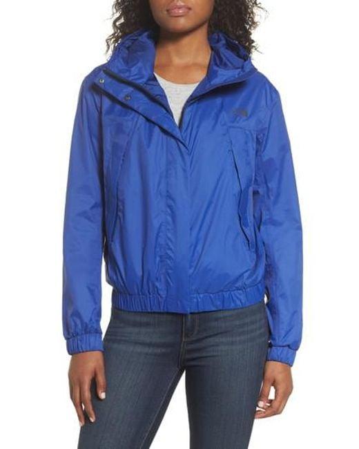 The North Face - Blue Precita Rain Jacket - Lyst