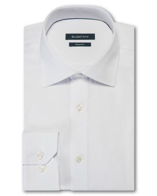 Bugatchi - White Trim Fit Solid Dress Shirt for Men - Lyst