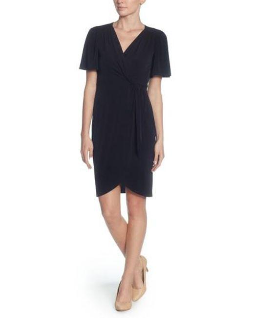 Catherine Malandrino - Black Nyla Twist Front Sheath Dress - Lyst