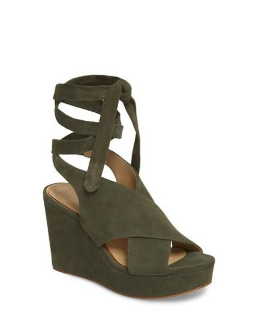 Etienne Aigner - Green Dominica Platform Wedge Sandal - Lyst