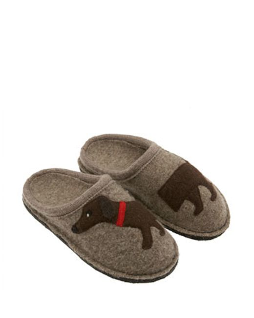 Haflinger | Brown 'doggy' Slipper | Lyst