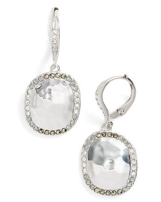 Judith Jack | Metallic Semiprecious Stone Drop Earrings | Lyst