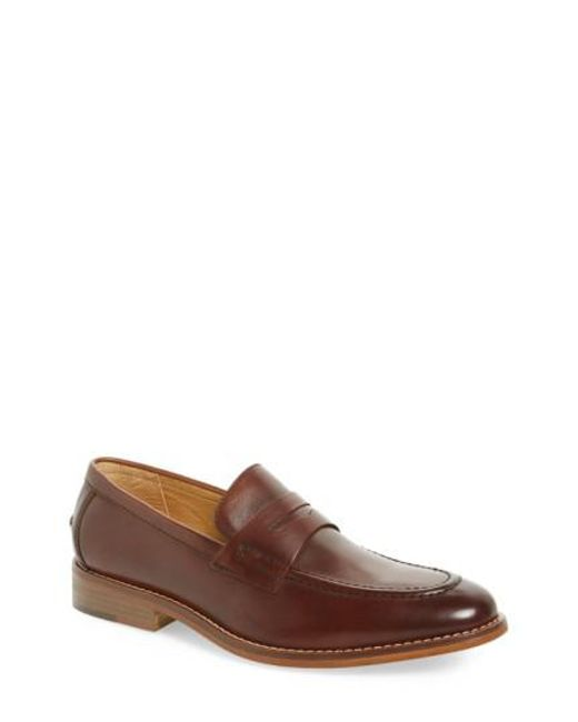 G.H. Bass & Co. - Brown 'conner' Penny Loafer for Men - Lyst