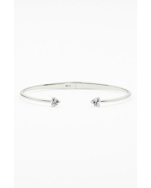 Nadri | Metallic Arrow Cubic Zirconia Station Cuff | Lyst