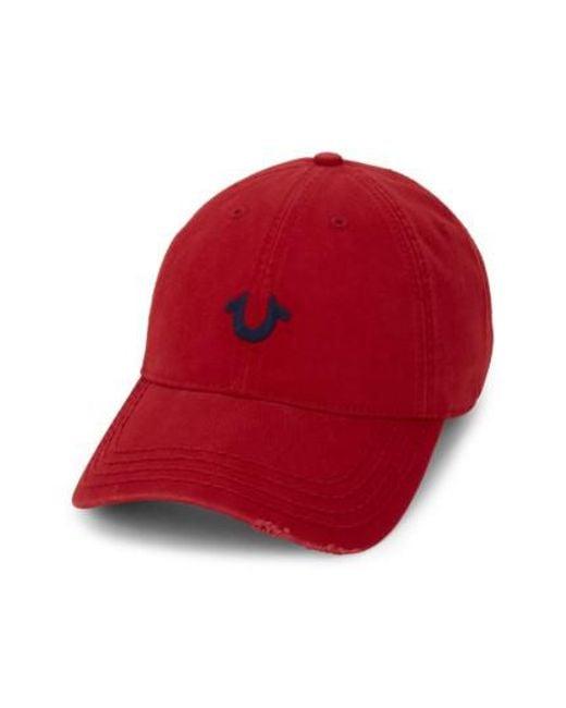 True Religion | Red Baseball Cap for Men | Lyst