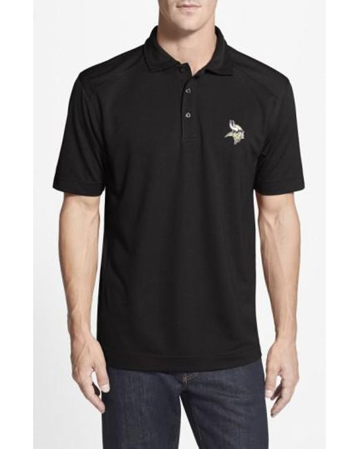 Cutter & Buck - Black 'Minnesota Vikings - Genre' Drytec Moisture Wicking Polo for Men - Lyst
