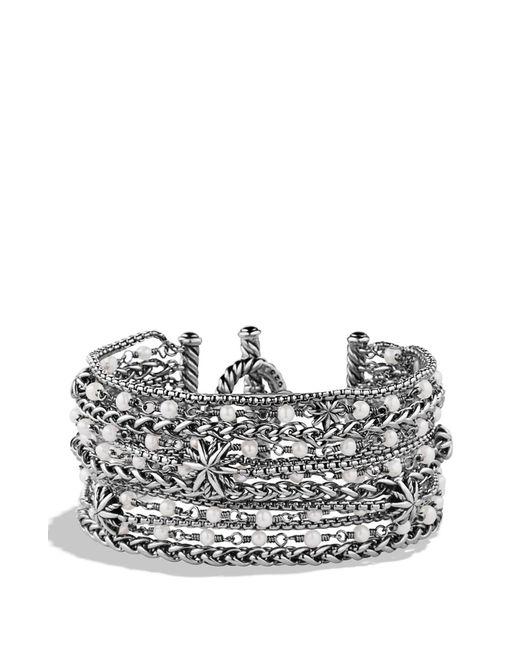 David Yurman - Metallic 'starburst' Chain Bracelet With Pearls - Lyst