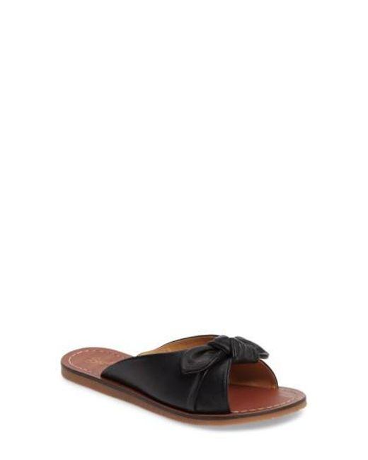 Seychelles - Black Moonlight Knot Slide Sandal - Lyst