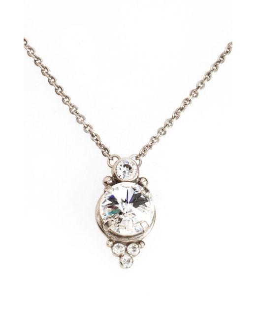 Sorrelli - Metallic Radiant Crystal Pendant Necklace - Lyst