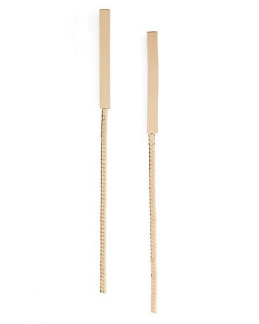 Cara | Metallic Drop Earrings | Lyst