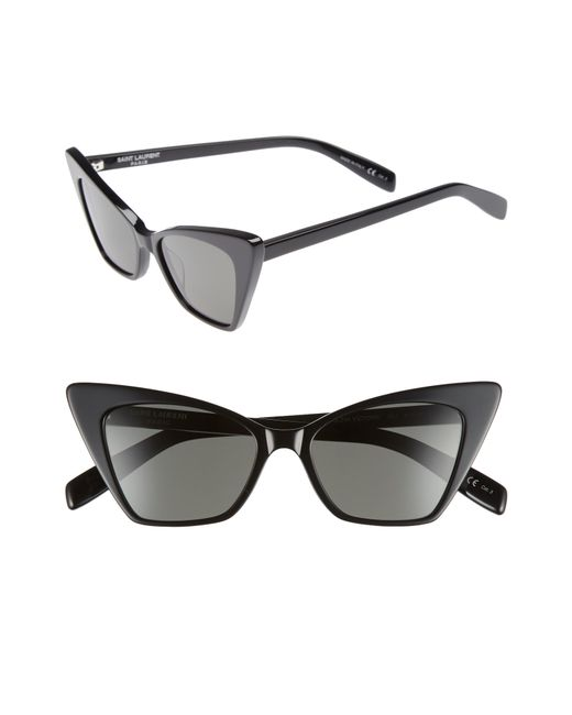 Saint Laurent - Black 51mm Cat Eye Sunglasses - Lyst