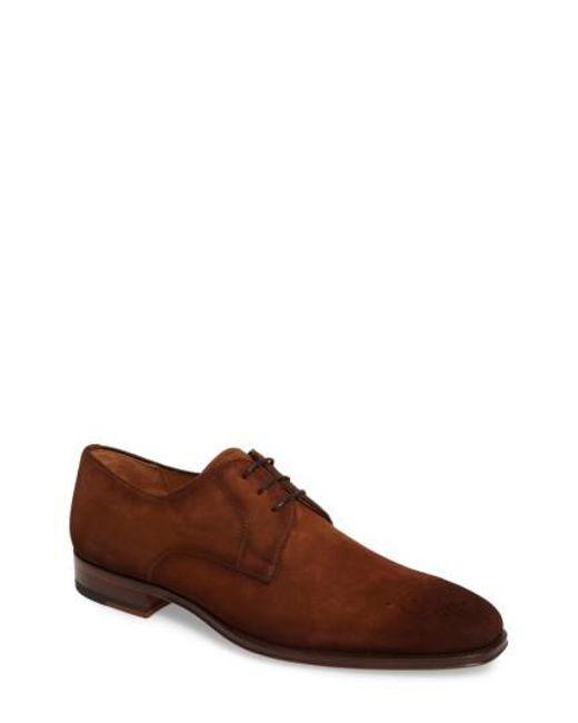 Magnanni Shoes | Brown Ezekiel Plain Toe Derby for Men | Lyst