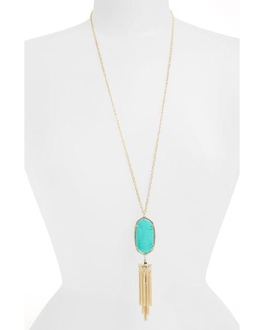 Kendra Scott - Metallic Rayne Stone Tassel Pendant Necklace - Lyst
