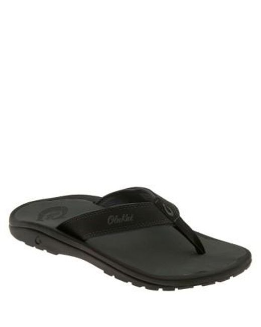 Olukai | Black 'ohana' Flip Flop for Men | Lyst