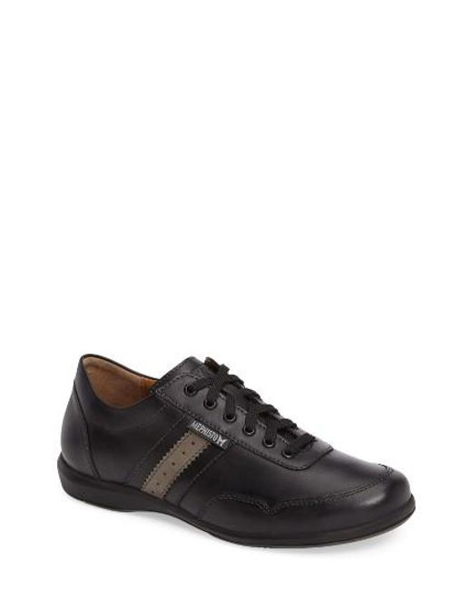 mephisto bonito walking shoe in black for lyst