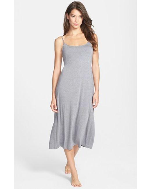 Natori | Gray Shangri La Crop Nightgown | Lyst