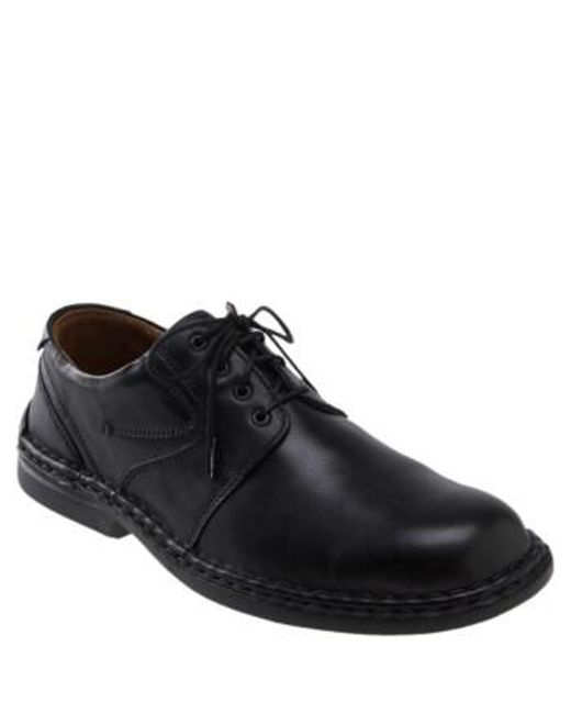 Josef Seibel | Black 'walt' Casual Oxford for Men | Lyst