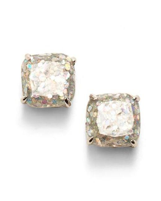 Kate Spade   Metallic Mini Small Square Stud Earrings   Lyst