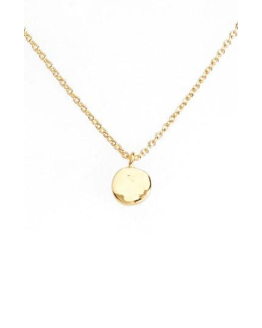 Gorjana | Metallic Chloe Small Pendant Necklace | Lyst