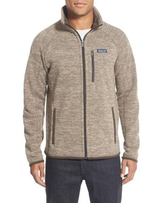 Patagonia | Natural 'better Sweater' Zip Front Jacket for Men | Lyst