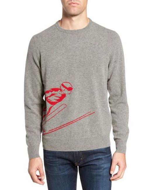 Bonobos Skier Wool Blend Sweater in Gray for Men | Lyst