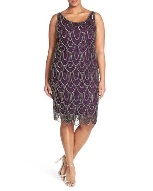 Pisarro Nights | Purple Beaded Sheath Dress | Lyst