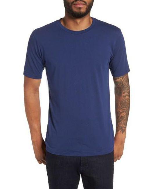 Goodlife | Blue Crewneck T-shirt for Men | Lyst