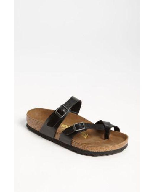 Birkenstock | Black 'mayari' Birko-flor(tm) Sandal | Lyst