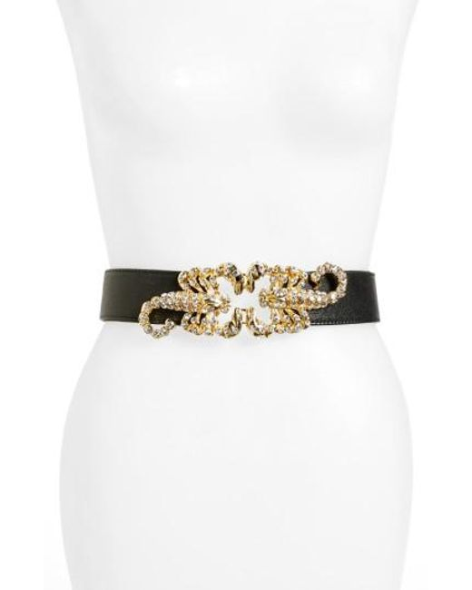 Raina - Black Queen Scorpion Leather Belt - Lyst
