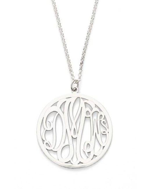 Argento Vivo - Metallic Personalized 3-letter Monogram Necklace - Lyst