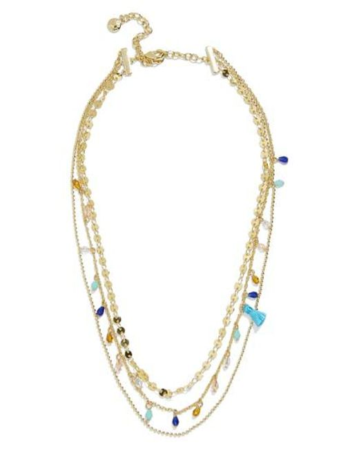 BaubleBar - Blue Brynn Layered Chain Necklace - Lyst