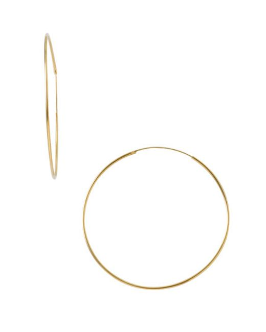 Argento Vivo | Metallic Endless Extra Large Hoop Earrings | Lyst