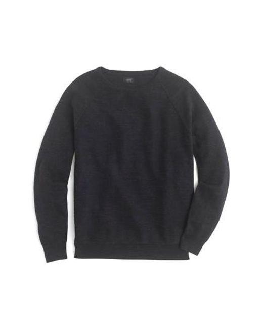 J.Crew - Black J.crew Slim Rugged Cotton Sweater for Men - Lyst