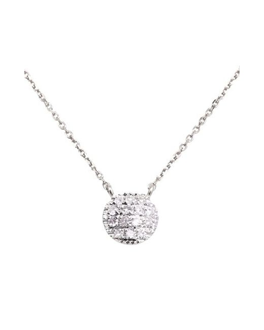 Dana Rebecca | White 'lauren Joy' Diamond Disc Pendant Necklace | Lyst