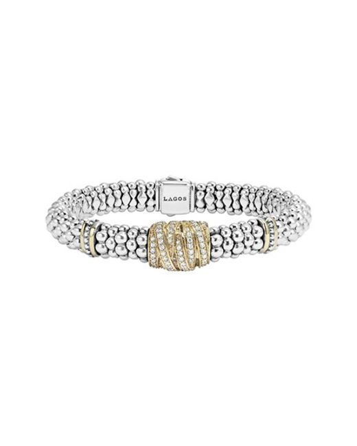 Lagos | Metallic 'diamonds & Caviar' Diamond Rope Bracelet | Lyst