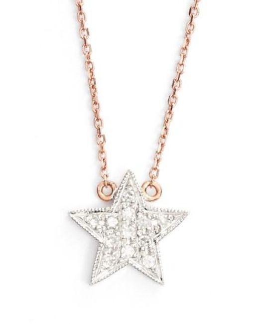 Dana Rebecca | Pink 'julianne Himiko' Diamond Star Pendant Necklace | Lyst