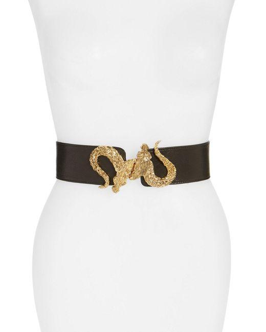 Raina - Black 'penelope - Dragon' Stretch Belt - Lyst