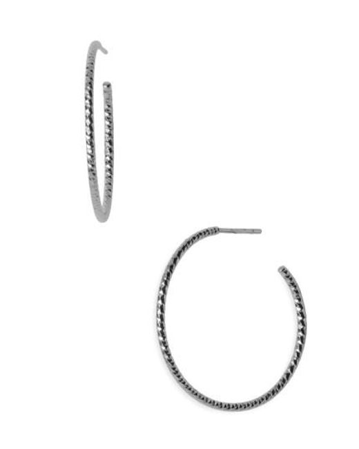 Argento Vivo | Metallic Textured Hoop Earrings | Lyst