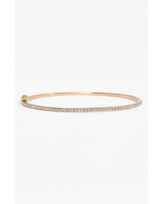 Judith Jack | Metallic Boxed Skinny Pave Hinge Bangle | Lyst